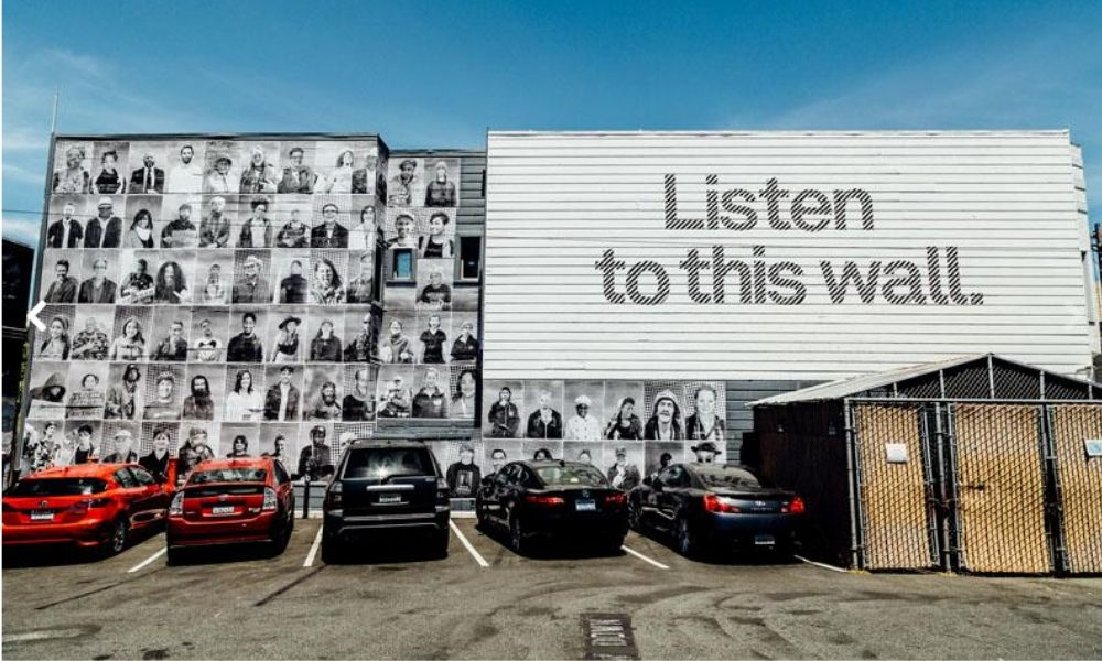 "InsideOut - ""Be the voice"", para visibilizar a los invisibles, para unir a todas las personas que conforman su barrio, independientemente de su clase social, San Francisco"